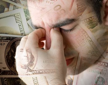 Man worried about money