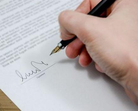 signing document 1