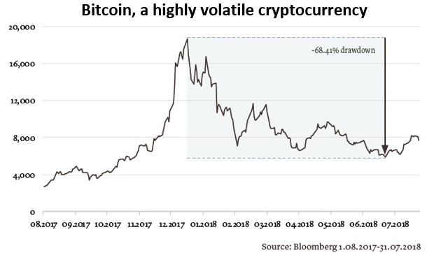 Bitcoin: a highly volatile cryptocurrency